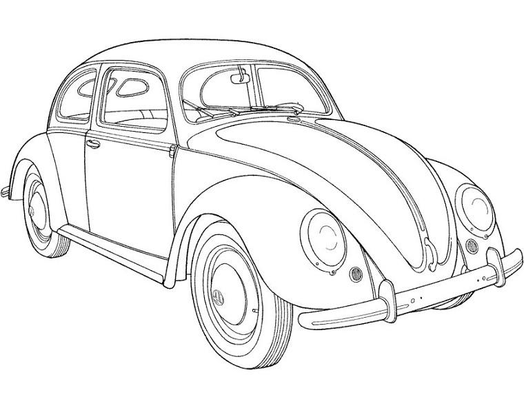 Vw Beetle Drawing At Getdrawings Com