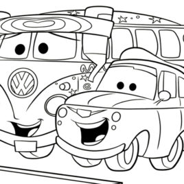 268x268 Classic VW Beetle Coloring Page Remember Herbie In The Love Bug