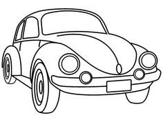 236x177 Vw Bug Coloring Page Worksheets, Vw And Vehicle