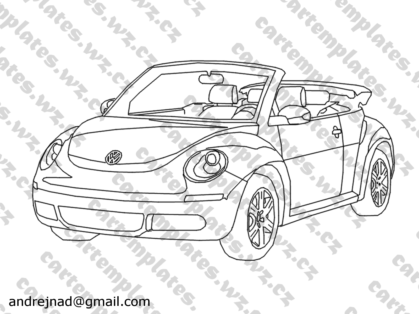 Vw Bug Drawing At Getdrawingscom Free For Personal Use Vw Bug