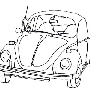 300x300 Volkswagen Beetle Car Coloring Pages Best Place To Color