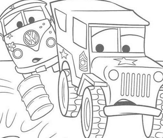 563x477 Guido Is Happy From Disney Cars Coloring Page