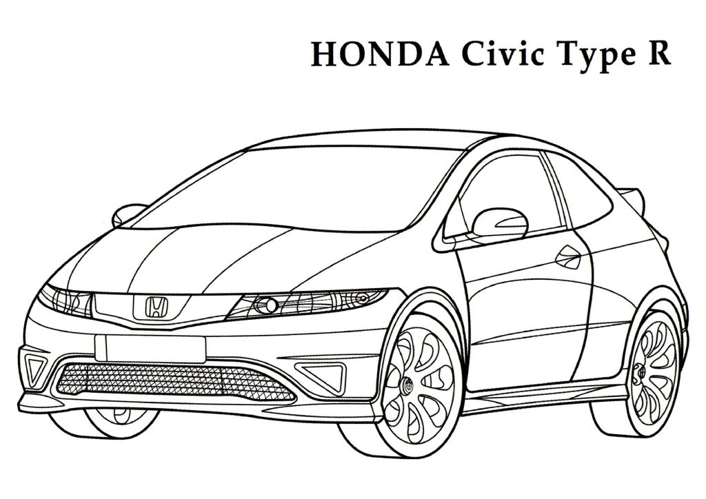 1024x724 Honda Coloring Pages Download And Print For Free I Love 2 Color