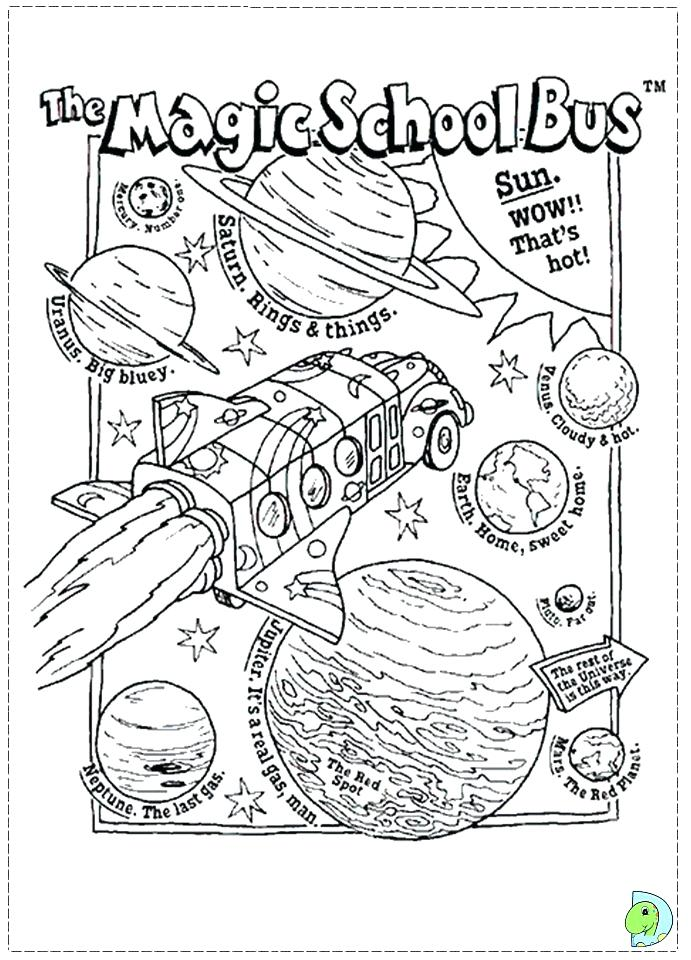 691x960 Magic School Bus Coloring Pages Vw Page Murs