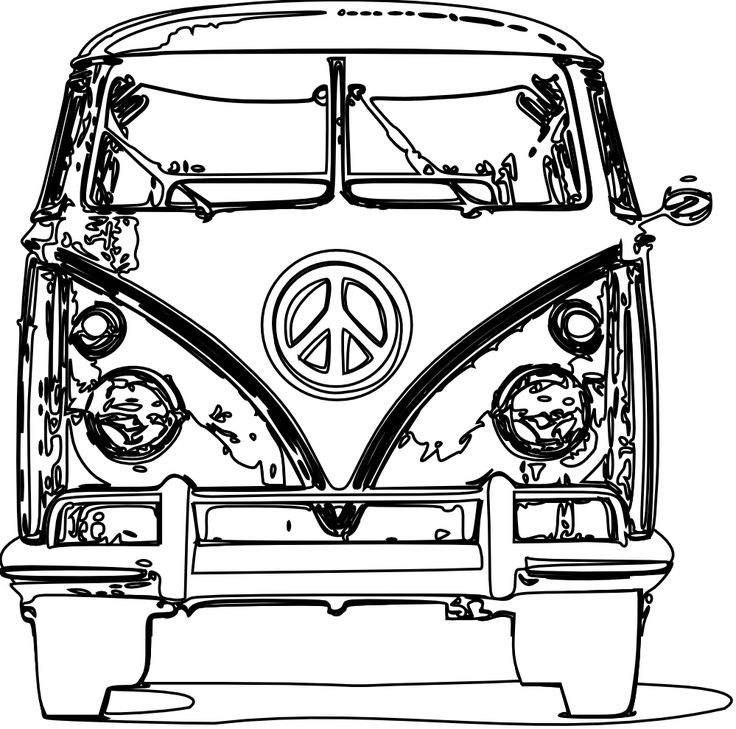 736x729 Vw Beetle Coloring Pages