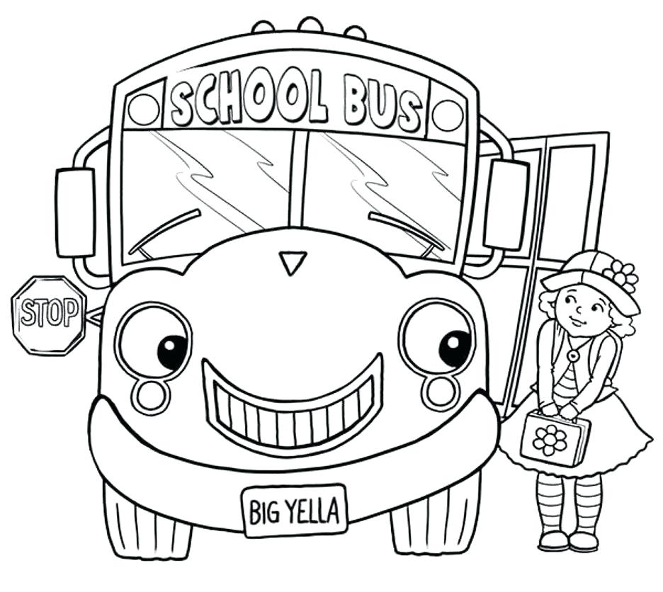 936x836 Bus Coloring Pages Little Girl And School Bus Coloring Page