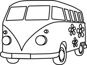 300x222 Vw Bus Coloring Pages Volkswagen