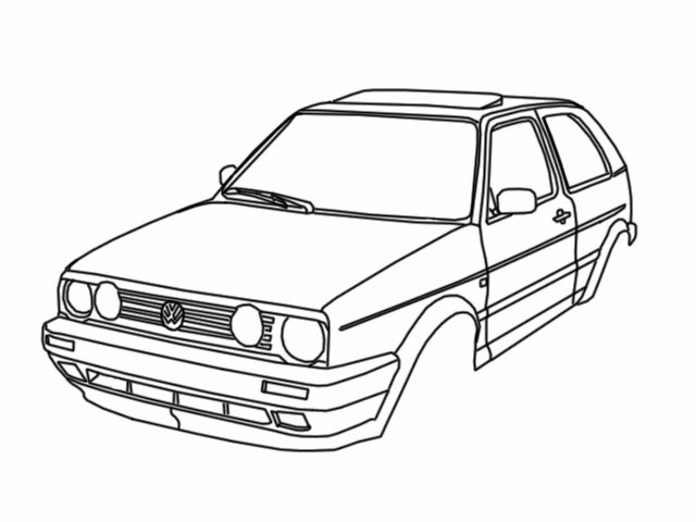640x480 7 Images Of Toddler Coloring Page Volkswagen Sedan