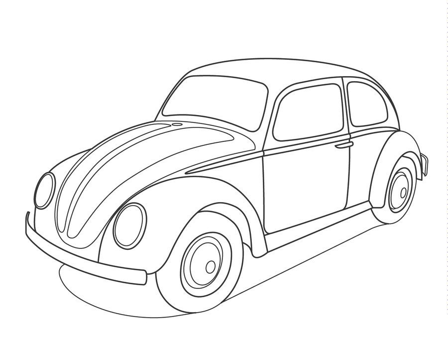 900x687 Coloring Pages Volkswagen, Printable For Kids Amp Adults, Free