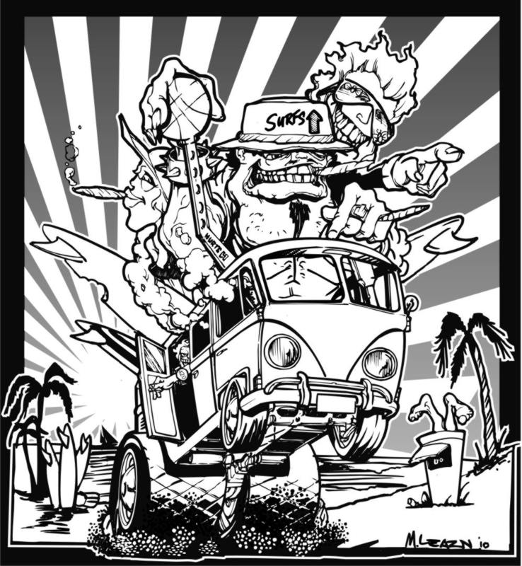 738x800 A Couple Of New Ed Roth Inspired Volksrods Drawings.