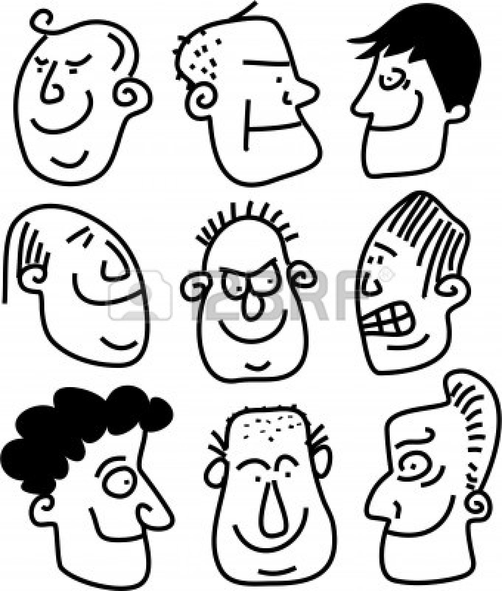 1020x1200 Drawing Funny Faces Crowd Of Funny Whimsical Cartoon Funny Faces