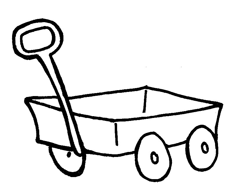 how to draw a wagon step by step