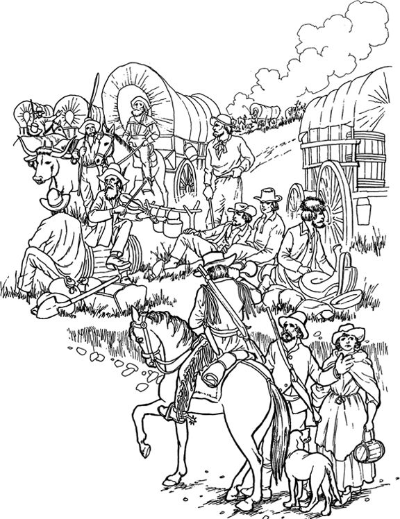 Wagon Train Drawing