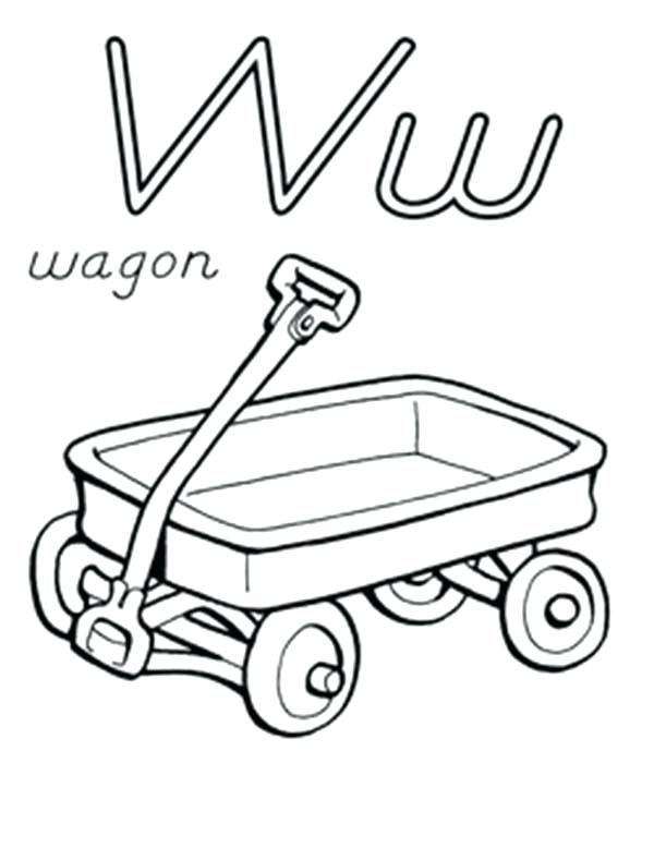 600x778 Wagon Coloring Page Letter W For Wagon Coloring Page Wagon Train