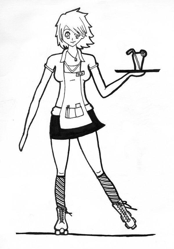 Waitress Drawing