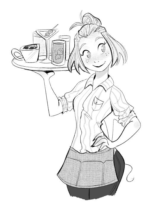 540x699 Art Blog Waitress The Musical Art Blog, Sketches