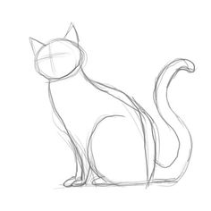 236x236 How To Draw A Cat Cat Drawing, Cat And Drawings