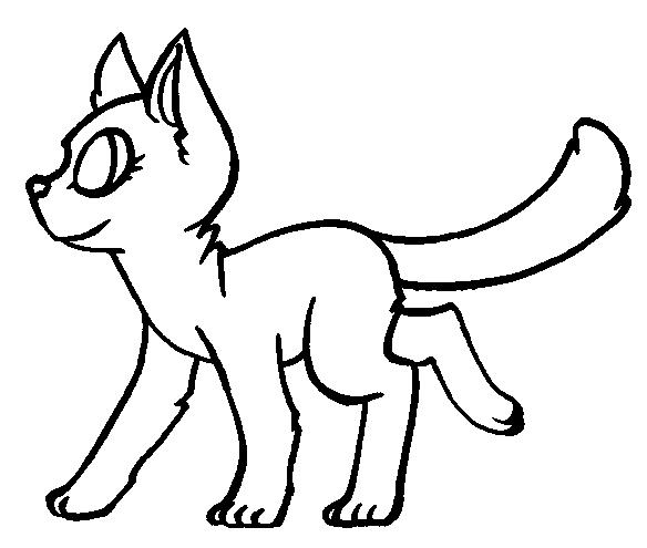 584x495 Walking Cat Free Lineart By Princessentiafarms