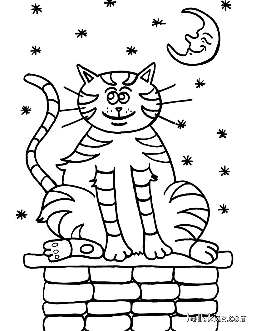 820x1060 Walking Cat Coloring Pages
