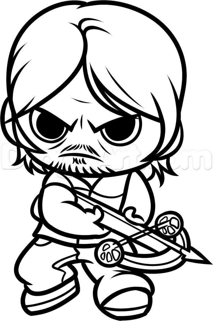 736x1108 Resultado De Imagem Para Desenhos De The Walking Dead Para Colorir