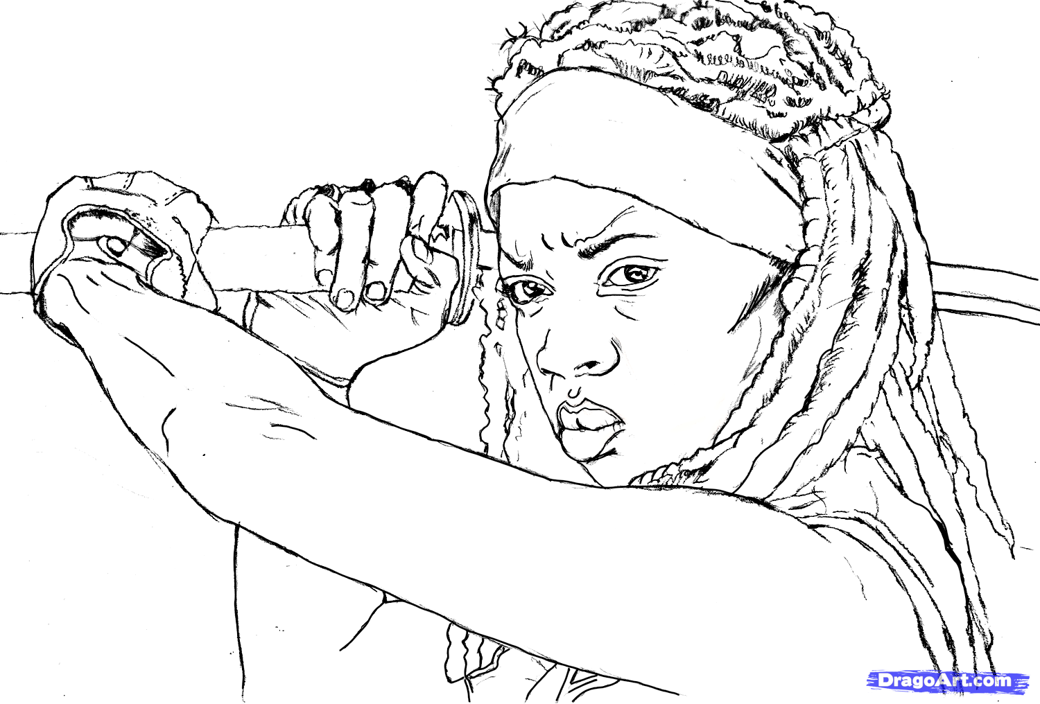 1500x1016 This One Is Of An Amazing Character Named Michonne, A Katana
