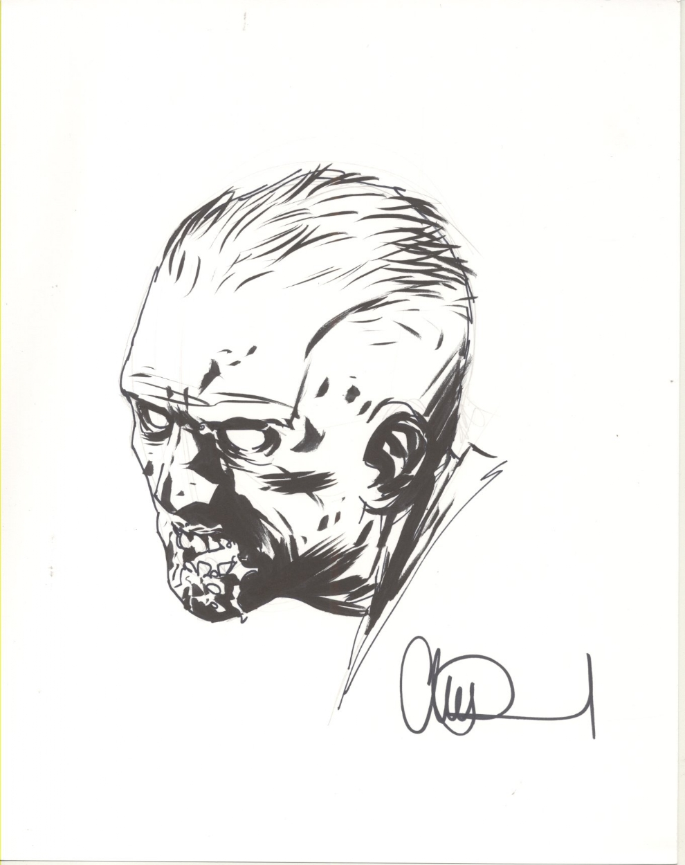 990x1250 Walking Dead Zombie Sketch, In The Nowell Brothers's Walking Dead