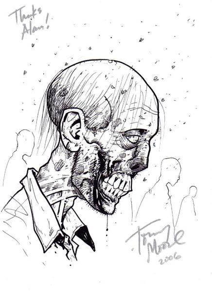 436x600 Walking Dead Zombie By Tony Moore, In Alan Pinion's Daniel, Tony
