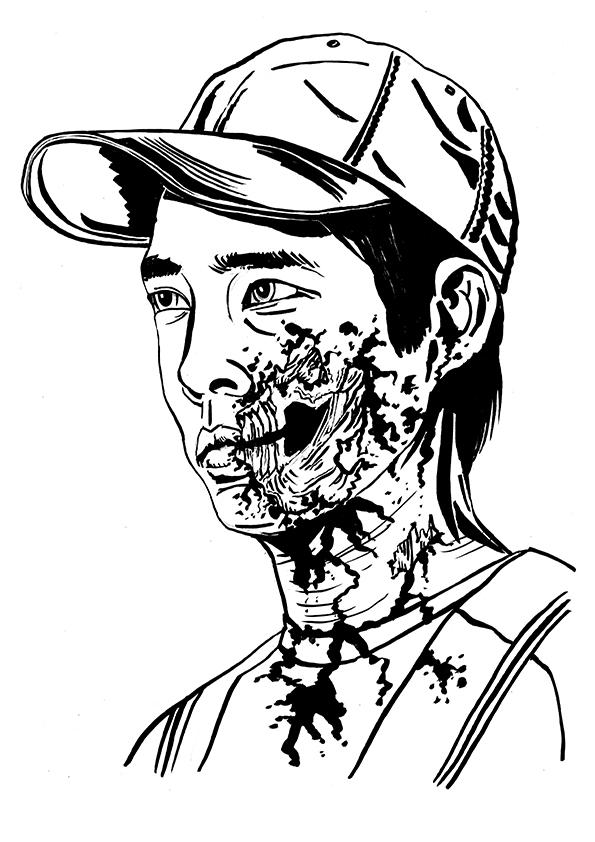 595x842 Zombie Glenn Rhee Illustration From My Series Of The Walking Dead