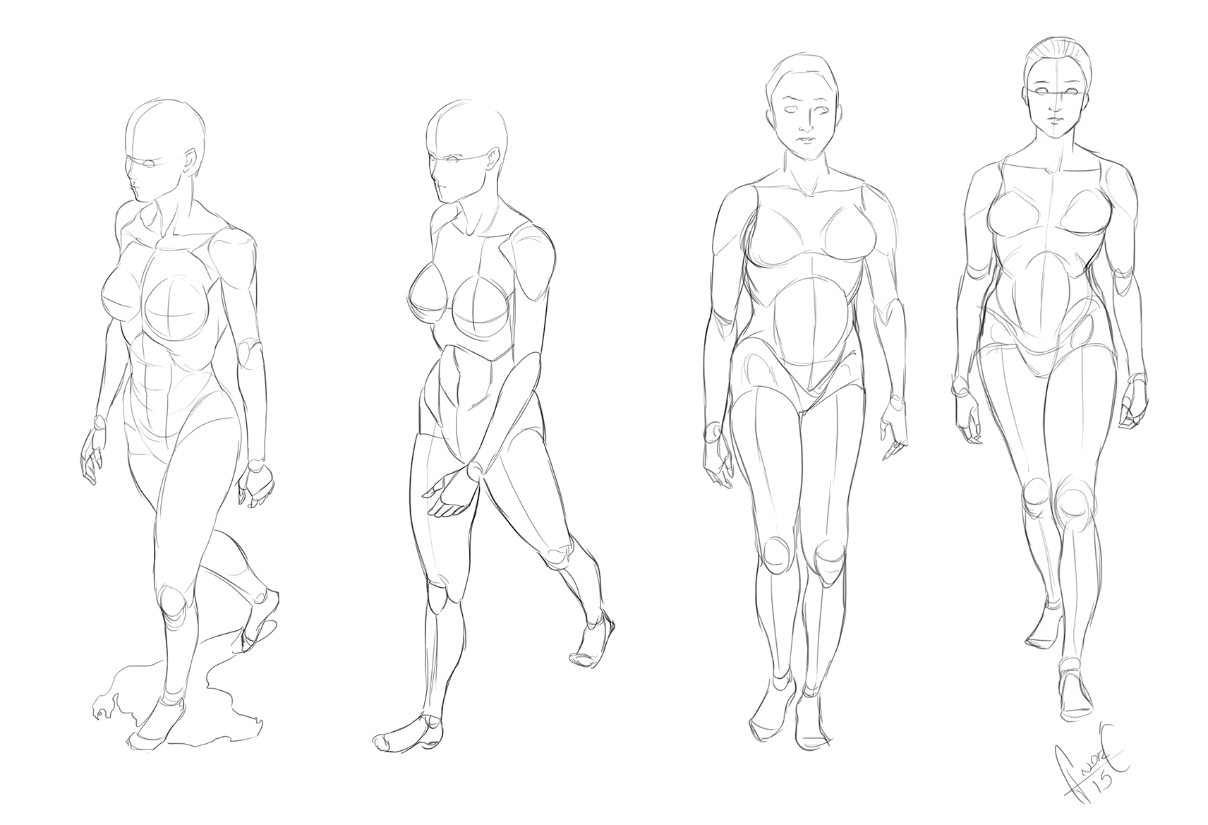 1712x1169 Female Walking Reference Sketch