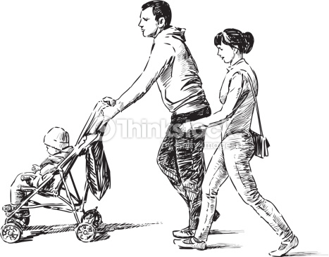 467x366 Image Result For Drawing Family Walking Tablolar