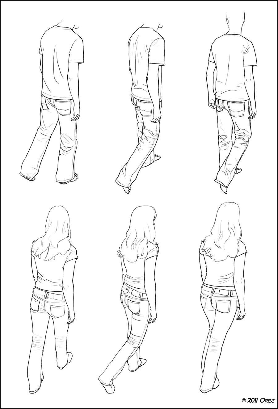 900x1325 Walking Tutorial 02 By ~dersketchie On Charater