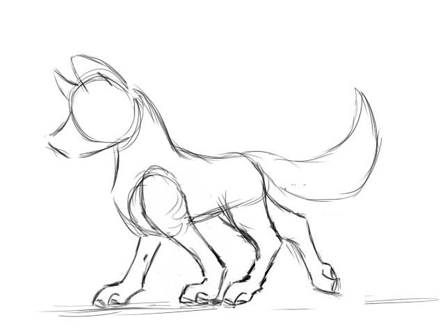 640x480 Walking Wolf By Agirafirewolf