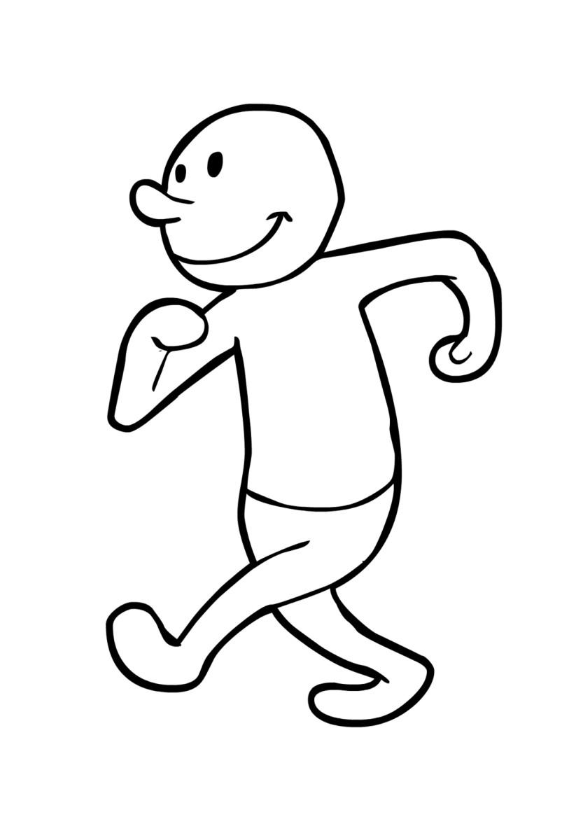 833x1200 Coloring Page Walking (2)