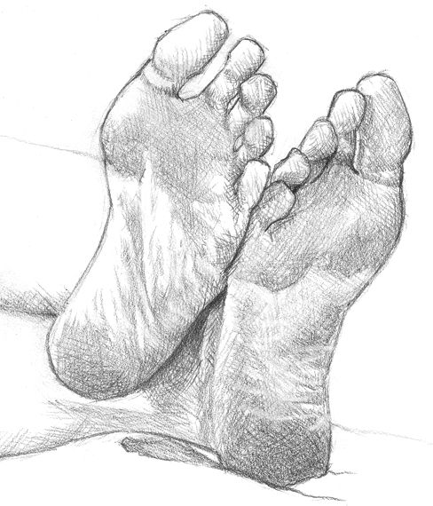 Walking Feet Drawing