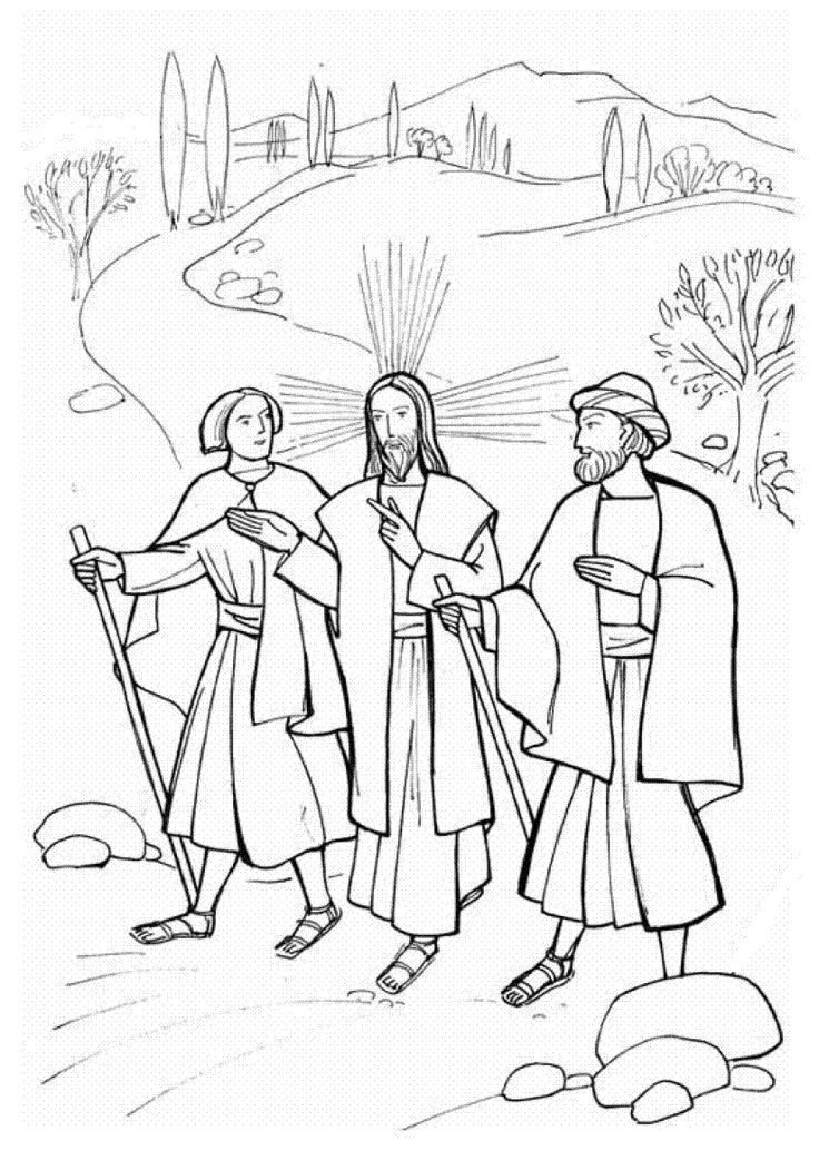 736x1033 Jesus Appears To The Disciples Coloring Pages