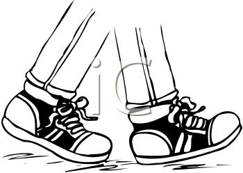 350x249 Cartoon Walking Feet Clipart