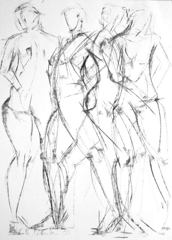 575x800 Figure Drawings By Uk Figurative Artist Rosanna Chittenden