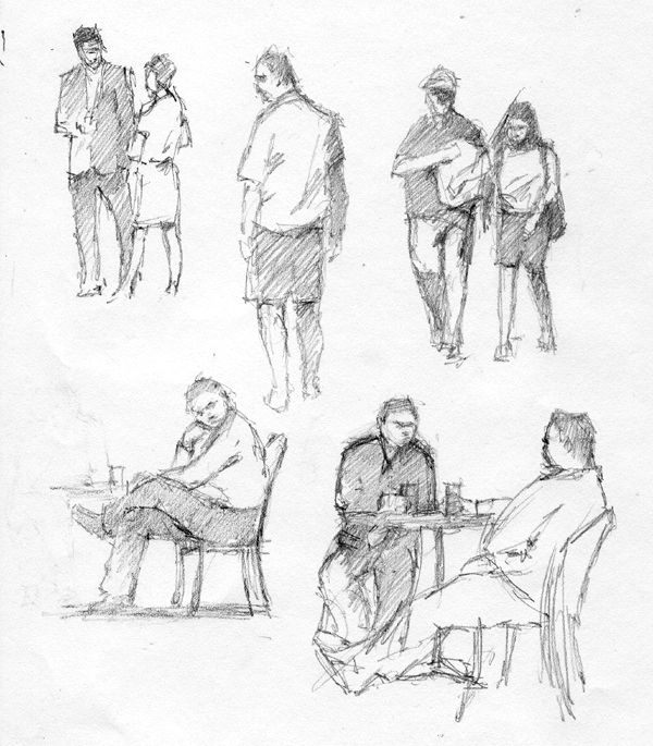 600x685 More Street Scenes And Some Figure Sketches Ralph Parker, Artist