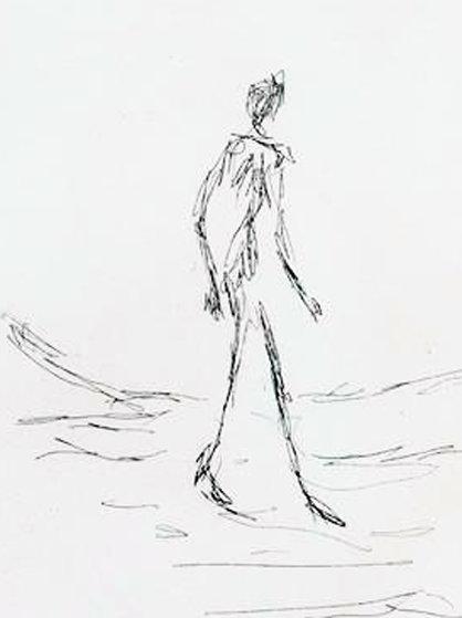 418x559 Walking Man 1964 By Alberto Giacometti