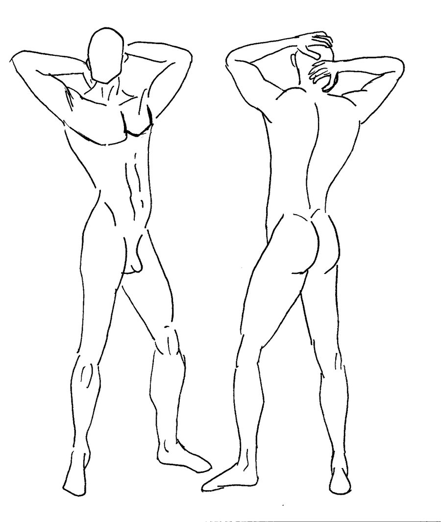900x1065 Menswear Illustration Template Walking