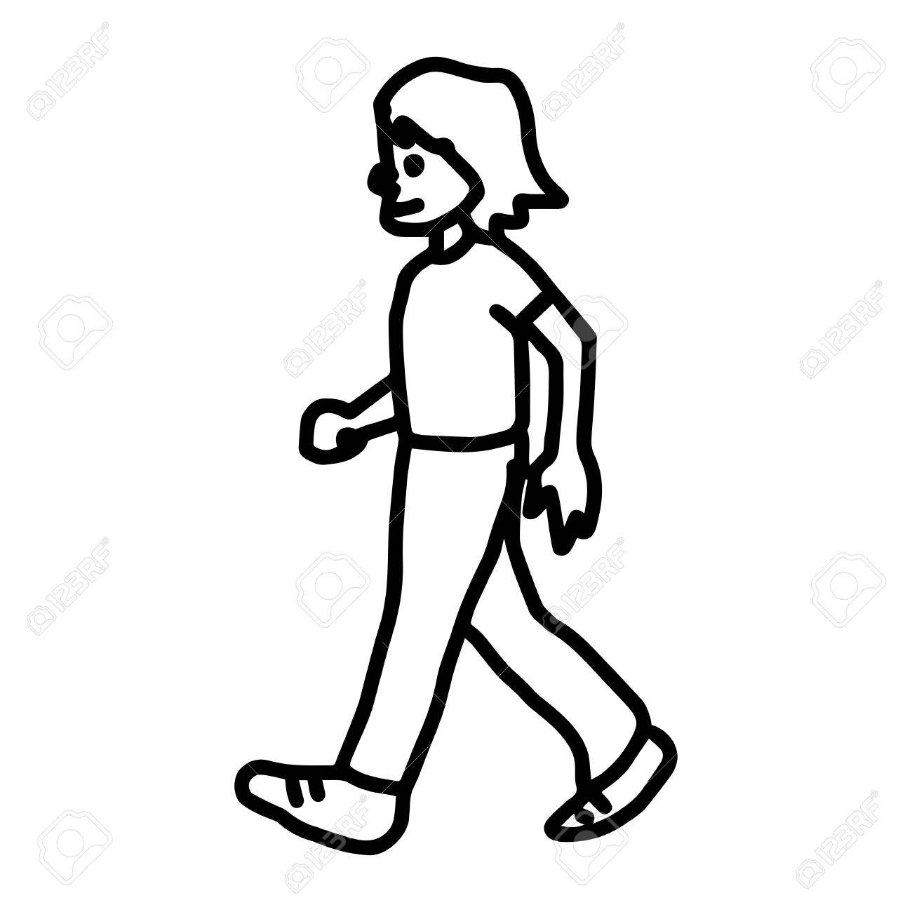 1300x1300 Man Walking To The Left