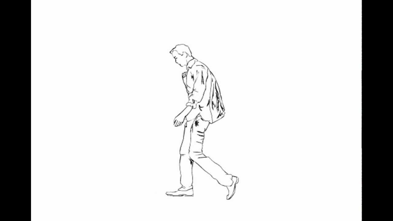 1280x720 Walking Man Rotoscope
