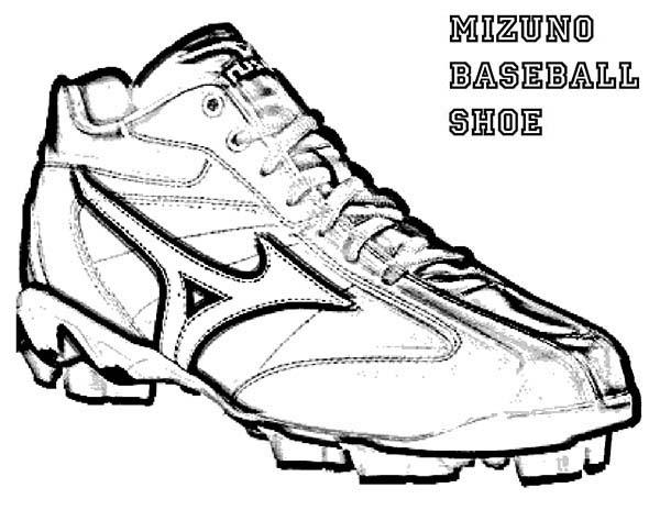 600x464 Mizuno Baseball Shoes Coloring Page Mizuno Baseball Shoes