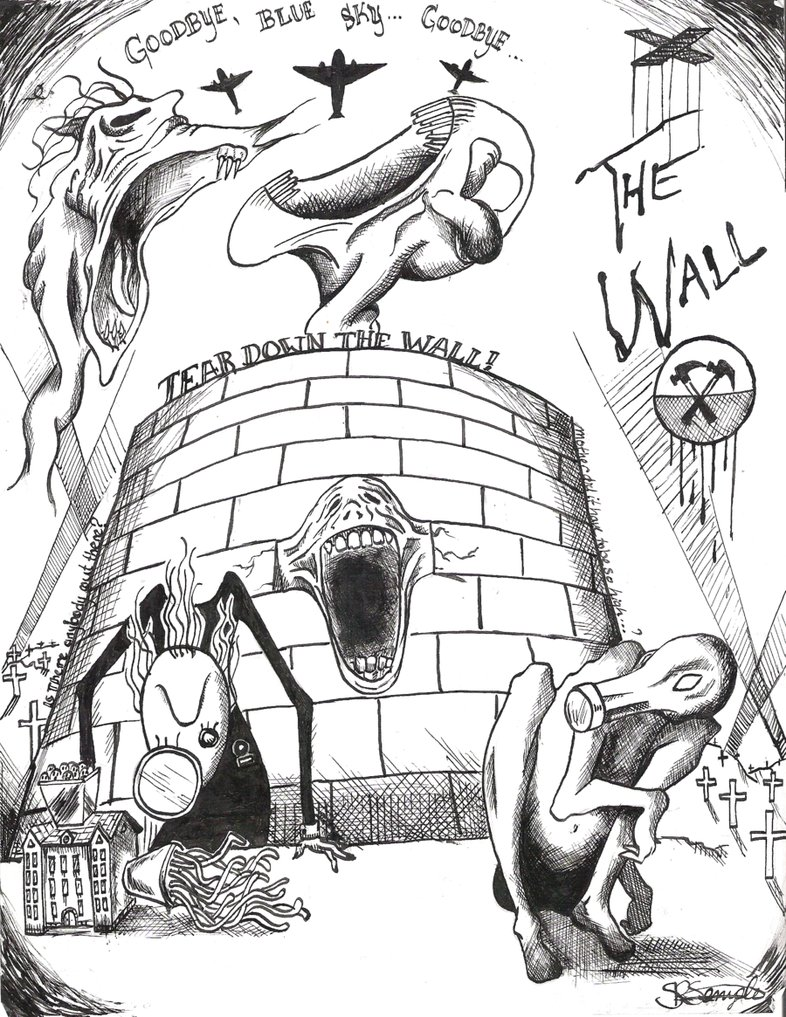 786x1017 Pink Floyd The Wall By Electricsorbet