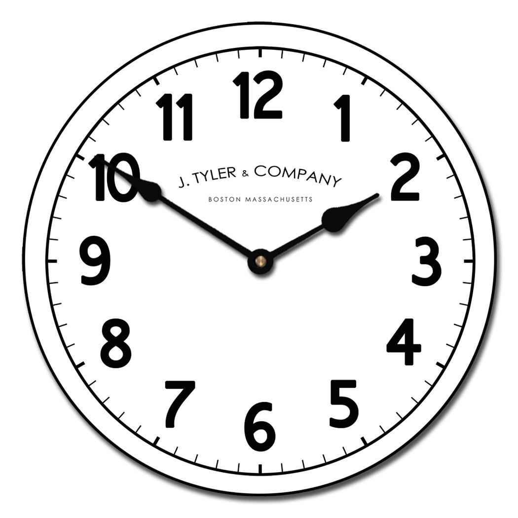 1050x1050 Large Vintage Wall Clocks Telegraph Clock The Big Clock Store