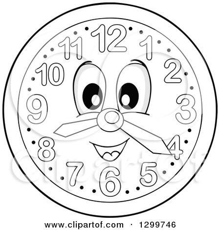 450x470 Royalty Free (Rf) Wall Clock Character Clipart, Illustrations