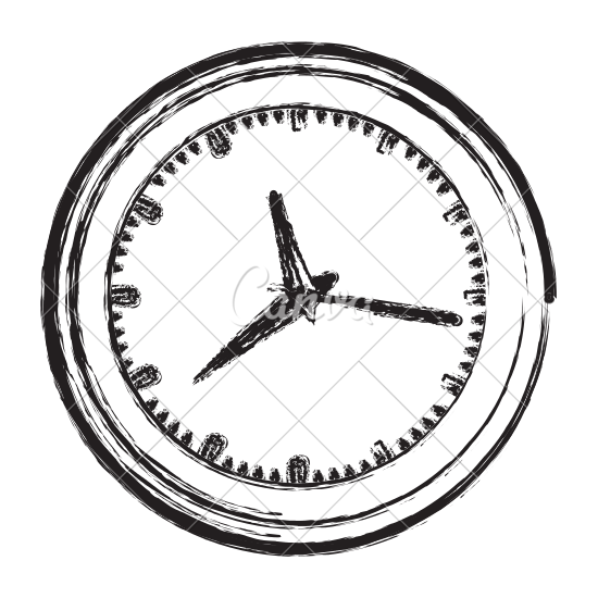 550x550 Wall Clock Sketch