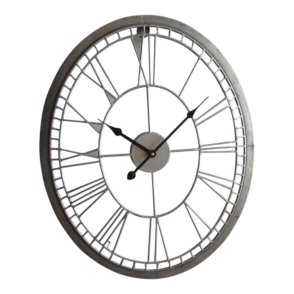 1000x1000 Industrial Wall Clock Oval 55cm