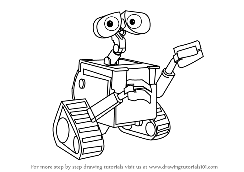 800x566 Learn How To Draw Wall E (Wall E) Step By Step Drawing Tutorials