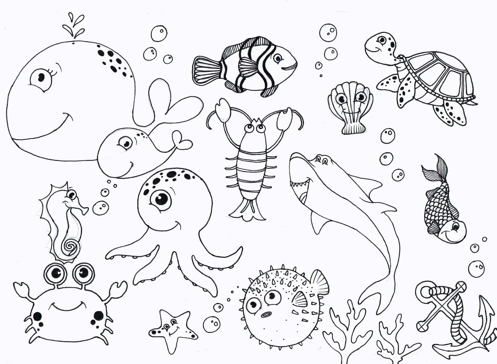 1600x1173 Under The Sea Drawings Wall Murals Drawing Ideas Under The Sea